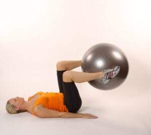 allenamento con wellness ball