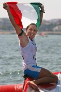 Alessandra Sensini in uno scatto sulla vela