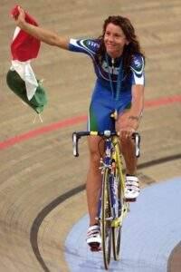 Valentina Bellutti dopo giro in pista
