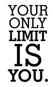 Testo motivazionale '' tu sei il tuo solo limite''