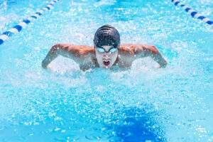 Respirazione durante vasca nuoto