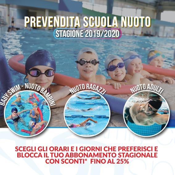 prevendita scuola nuoto vinovo