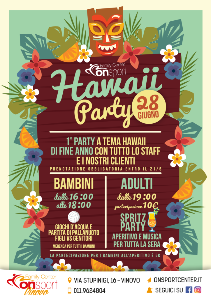 Locandina hawaii party