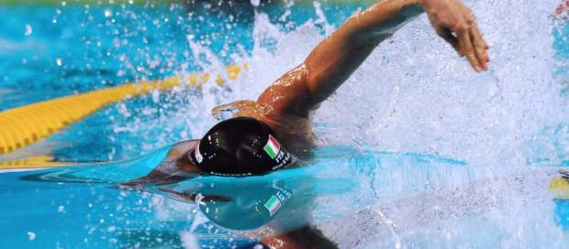 Luca Dotto of Italy competes in the men's 100m freestyle semifinal during the FINA World Short Course Swimming Championships in Istanbul on December 15, 2012. AFP PHOTO/MIRA        (Photo credit should read MIRA/AFP/Getty Images)